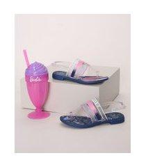 sandália infantil grendene barbie + brinde azul