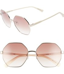 longchamp le pliage 57mm gradient octagonal sunglasses in gold at nordstrom