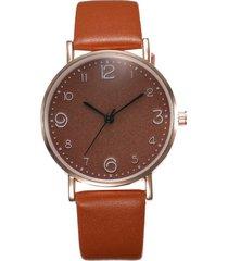 reloj pulsera cuarzo analogico mujer pulso cuero pu 023 marron