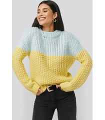 na-kd trend heavy knitted wide rib sweater - multicolor