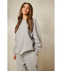 oversized gerecyclede sweater, grey marl