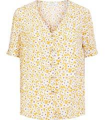 blouse viscose knoopsluiting