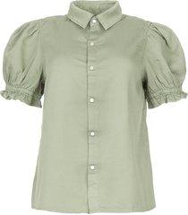 blouse met korte pofmouwen danee  groen