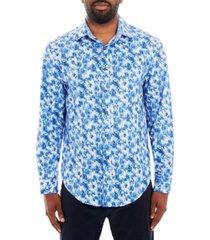 tallia men's paisley long sleeve button up shirt