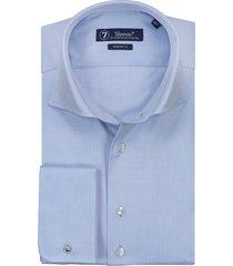 sleeve7 overhemd lichtblauw dubbele manchet