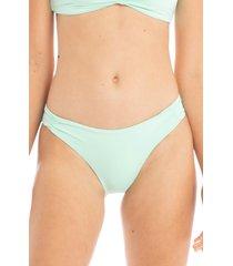 tavik carolee high leg bikini bottoms, size large in mint at nordstrom