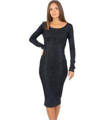 lurex sheath midi dress