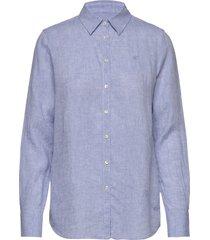kirsten linen shirt overhemd met lange mouwen blauw morris lady