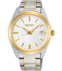 seiko men's essentials two-tone stainless steel bracelet watch 40.2mm