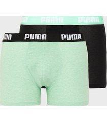 puma puma basic boxer 2p boxershorts mint