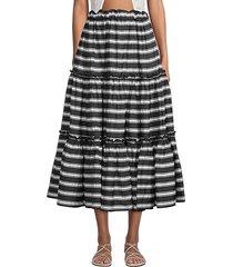 ruffle peasant skirt