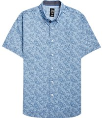 con. struct blue paisley short sleeve sport shirt