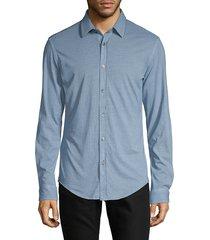 boss hugo boss men's slim-fit long-sleeve shirt - blue - size xxl