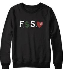 f money spread love j cole dreamville forest hills drive crewneck sweatshirt