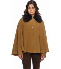 casaco lã personalità curto feminino