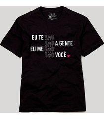 camiseta amo amo amo reserva preto - preto - masculino - dafiti