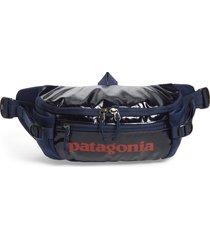 men's patagonia black hole belt bag - blue
