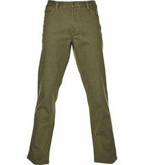 pantalón 5 bolsillos algodón spandex oliva mcgregor