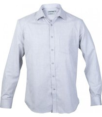 camisa fantasía textura manga larga gris claro kotting