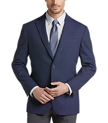 awearness kenneth cole navy plaid slim fit sport coat
