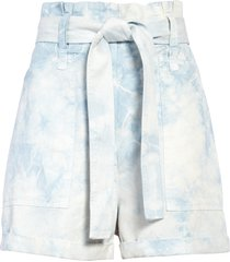 a.l.c. davidson tie waist shorts, size 14 in blue marble at nordstrom