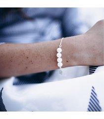 bransoletka z perłami for4 - srebrna