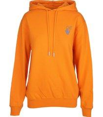 off-white woman chine arrows orange hoodie
