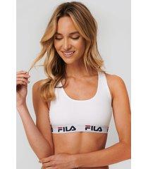 fila logo bra - white