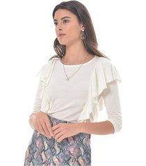 camiseta para mujer en viscosa blanco color-blanco-talla-xl