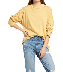 women's we the free by free people be free tunic t-shirt, size large - yellow