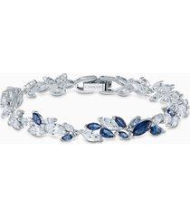 braccialetto louison, azzurro, placcato rodio
