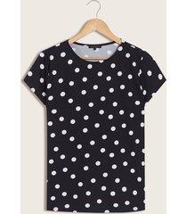 camiseta polka dots negro 12