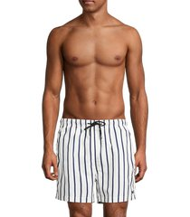 solid and striped men's the classic breton striped swim trunks - stripe white - size xxl
