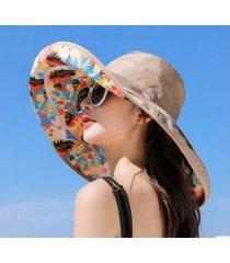 sombrero de protección solar salvaje para mujer-caqui
