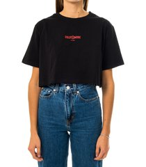 dolly noire t-shirt donna capital crop top ts429