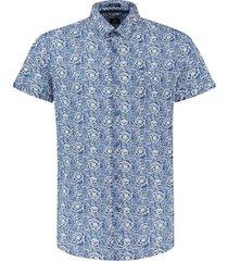 blouse rose kobaltblauw