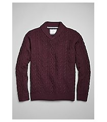 1905 collection cable knit shawl lapel men's sweater clearance