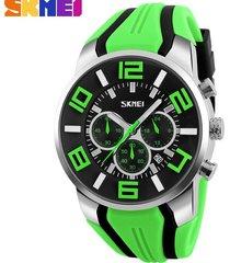 reloj de cuarzo impermeable deportivo al aire libre-verde
