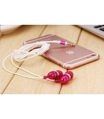 audífonos bluetooth deportivos inalámbricos, nuevo st-007 estéreo auricular bajo de metal manos libres auriculares 3.5mm earbuds (rosa)