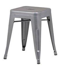 banqueta iron baixa cor cinza 46 cm (alt) - 37990 cinza