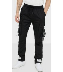 sixth june strap pants byxor black