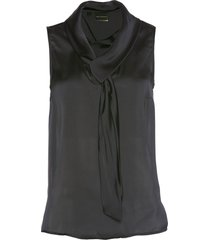 top in satin (nero) - bpc selection