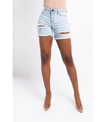 akira all over town denim shorts