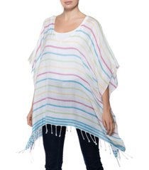 inc international concepts striped poncho, created for macy's