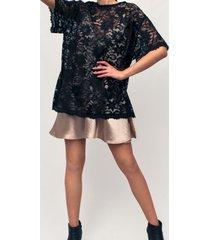 vestido verona encaje negro lorenza bas