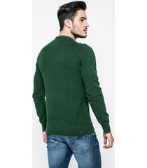 sweater verde tommy hilfiger textured two colour c-nk cf