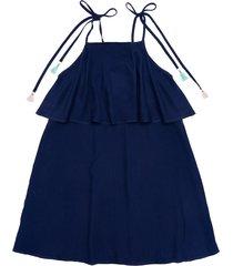 vestido manga sisa azul  offcorss