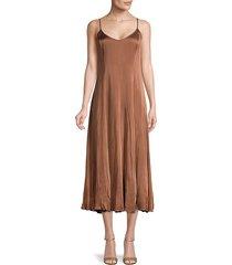 michael kors collection women's v-neck slip dress - cocoa - size 8