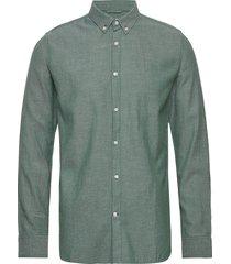 elder ls twill shirt - gots/vegan skjorta casual grön knowledge cotton apparel