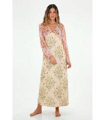 vestido  para mujer topmark, largo y estampado